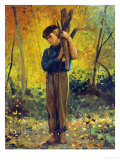 Boy Holding Logs  1873