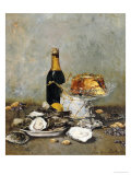 Oysters, Cake and a Bottle of Champagne, 1891 Giclée par Victor Morenhout