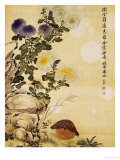 Chrysanthemums and Quail  1702