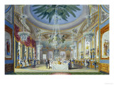 The Banqueting Room at the Royal Pavilion  Brighton  1826