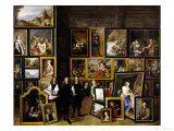 Archduke Leopold Wilhelm in His Picture Gallery  with the Artist and Other Figures