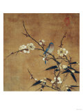 Blue Bird on a Plum Branch with Bamboo (13th/14th Century) Giclée