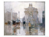 After the Rain  the Dewey Arch  Madison Square Park  New York