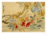 Poissons rouges Giclée par Ni Tian
