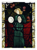 Minstrel Angel with Cymbals  for the East Window of St John's Church  Dalton Yorkshire