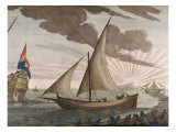 Hand-Colored Engraving from le Neptune Francois  Maritime Atlas  1693-1700