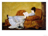 Young Lady Reading Giclée par Mary Cassatt