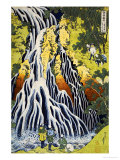 The Kirifuri Waterfall at Mt. Kurokami in Shimotsuke Province Reproduction d'art par Katsushika Hokusai