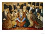 A Young Qajar Prince and His Entourage