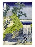Aoigaoka Waterfall in the Eastern Capital Giclée par Katsushika Hokusai