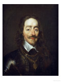 Portrait of King Charles I  Bust Length  Wearing Armour and the Collar of the Order of the Garter