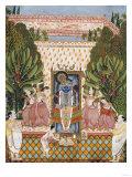 Worship of Shri Nathji  Probably Bundi or Kotah  circa 1825-50