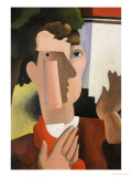 Man with a Red Scarf  1922