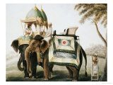 Elephants with Their Mahouts  Company School  circa 1815