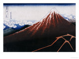 Rainstorm Beneath the Summit (The Black Fuji)