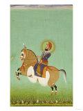 Equestrian Portrait of Maharana Sarup Singh  Signed by Shiva  Mewar  circa 1858