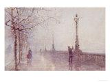 The Last Lamp  Thames Embankment  1892
