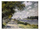 La Seine à Argenteuil, 1875 Giclée par Claude Monet