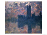 Parliament  Sunset  1902