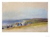 Houses on the Cliff Edge at Villers-Sur-Mer, 1869 Giclée par Edgar Degas
