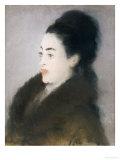 Woman in a Fur Coat in Profile  1879