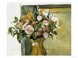 Fleurs dans un vase Giclée par Paul Cézanne