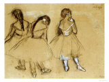 Three Dancers Giclée par Edgar Degas