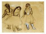 Three Dancers Giclée par Edgar Degas