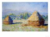 Haystacks, Morning Effect Giclée par Claude Monet
