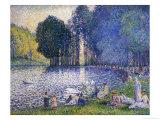 The Lake in the Bois de Boulogne  circa 1899