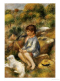 Young Boy by a Brook, 1890 Giclée par Pierre-Auguste Renoir