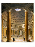 The Interior of the Pantheon  Rome  Looking North from the Main Altar to the Entrance  1732