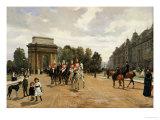 The Life Guards Passing Hyde Park Corner  London  circa 1886