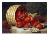 Strawberries in a Wicker Basket on a Ledge  1895