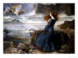 Miranda dans l'orage, 1916 Giclée par John William Waterhouse