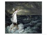 A Fairy Waving Her Magic Wand Across a Stormy Sea