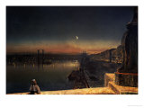 Rouen at Night from the Pont de Pierre  1878