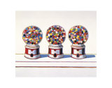 Trois machines, 1963 Reproduction d'art par Wayne Thiebaud