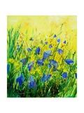 Wild blue bells flowers