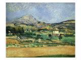 Plain of the Mount St. Victoire Giclée par Paul Cézanne