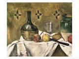 Glass and Fruit Flask Giclée par Paul Cézanne