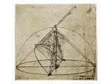 Measuring Instruments Giclée par Leonardo Da Vinci