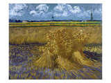 Wheatfield with Sheaves  c1888
