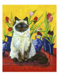 Cat and Tulips I (Chat Tulipes I)