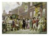 Washington's Inauguration at Philadelphia  1793