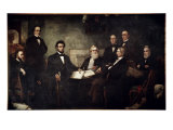 The First Reading of the Emancipation Proclamation Giclée par Francis Bicknell Carpenter