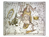 """Hercules  from """"A Celestial Atlas """" Published in 1822"""