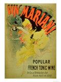 "Poster Advertising ""Mariani Wine  Popular French Tonic Wine"""