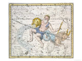 """Aquarius and Capricorn  from """"A Celestial Atlas """" Published in 1822"""