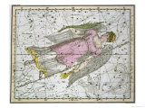"""Virgo  from """"A Celestial Atlas """" Published in 1822"""